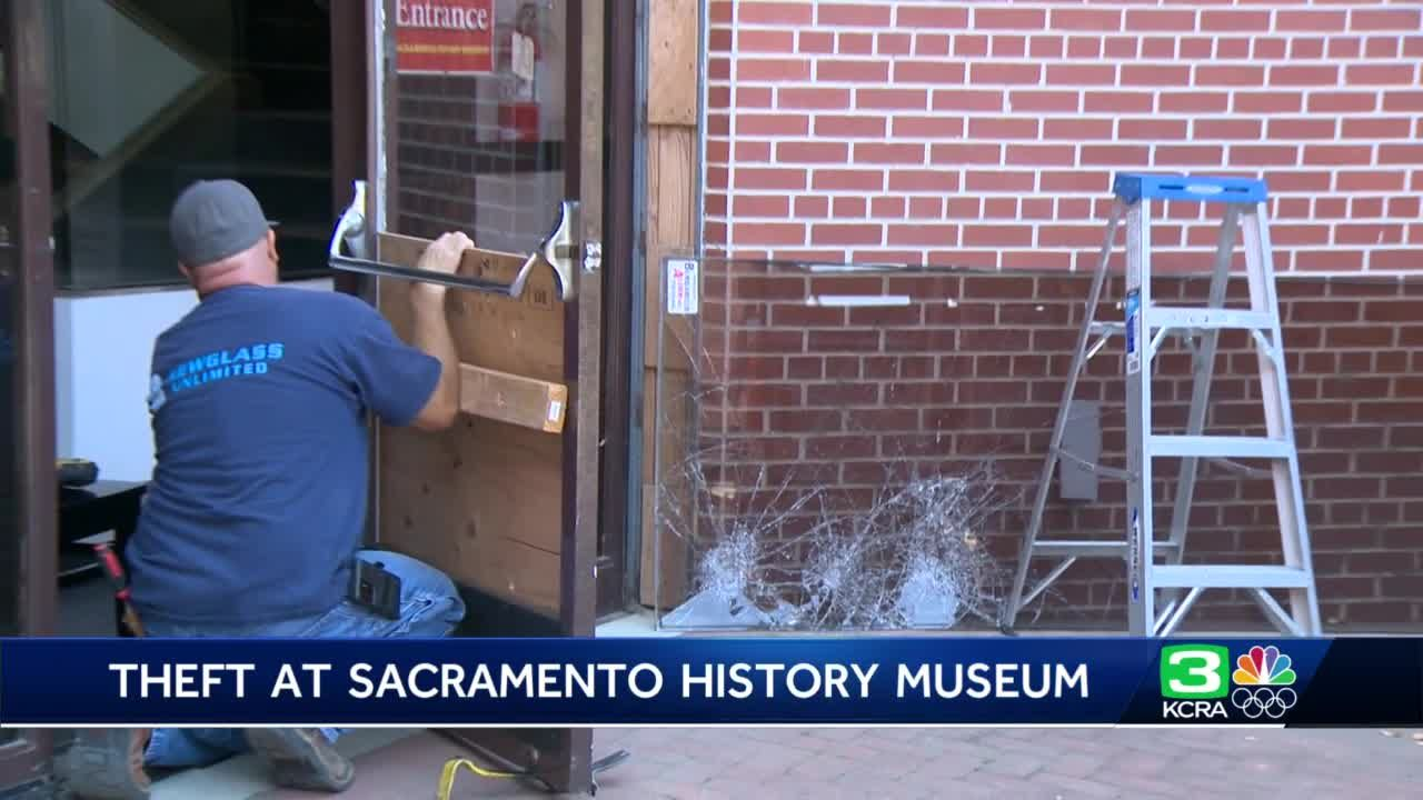 Sacramento History Museum says gold artifacts taken during break-in