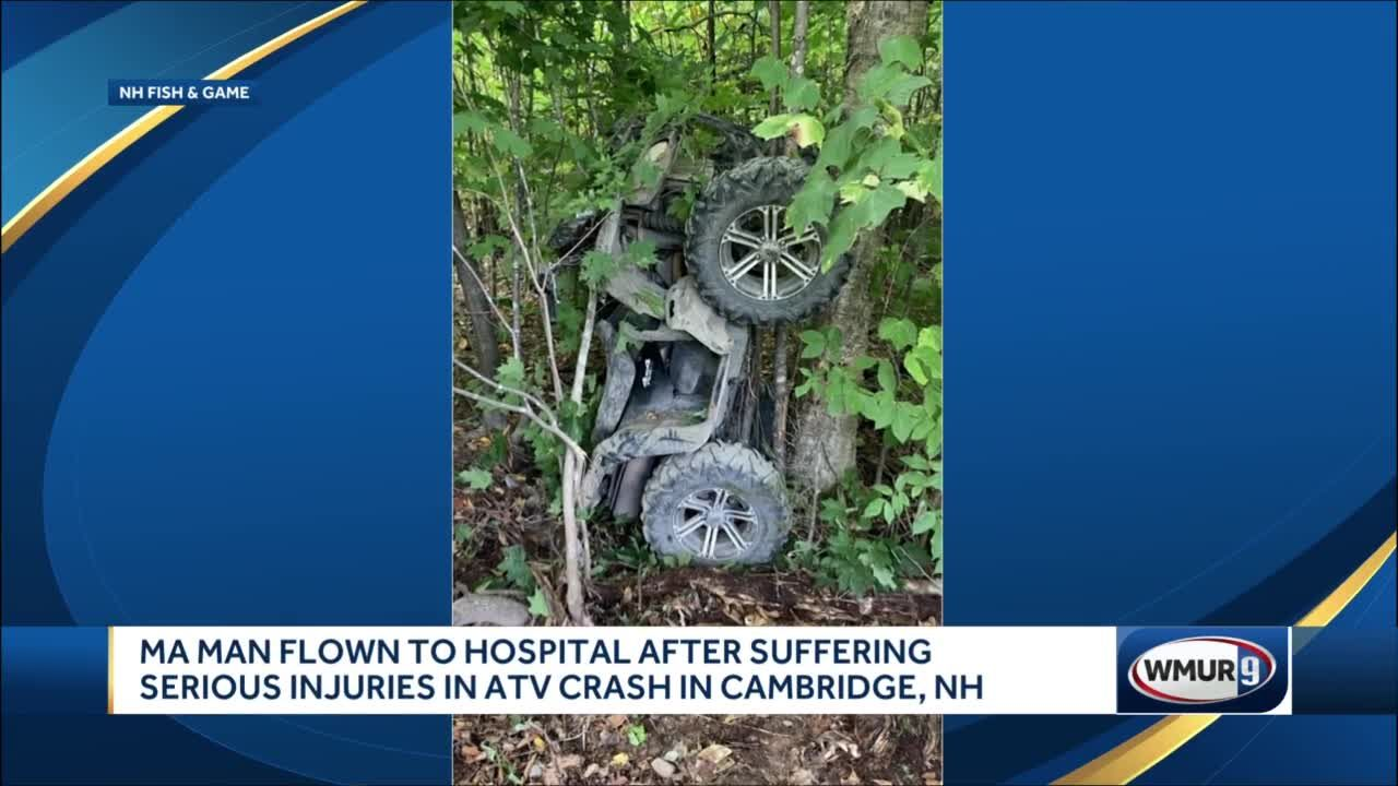 Massachusetts man flown to hospital after suffering serious injuries in ATV crash in Cambridge, NH