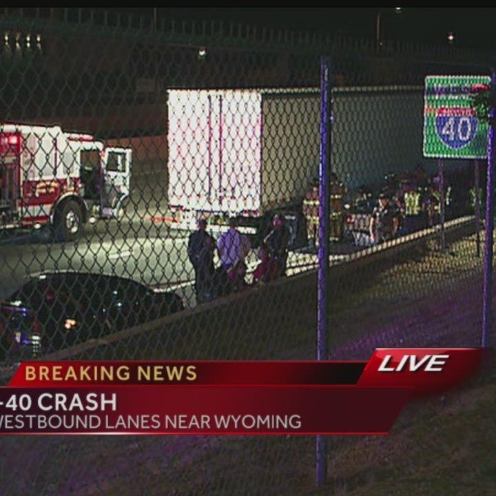 BREAKING: Crash partially closes I-40