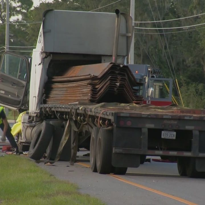 Driver attempts to save man involved in freak accident