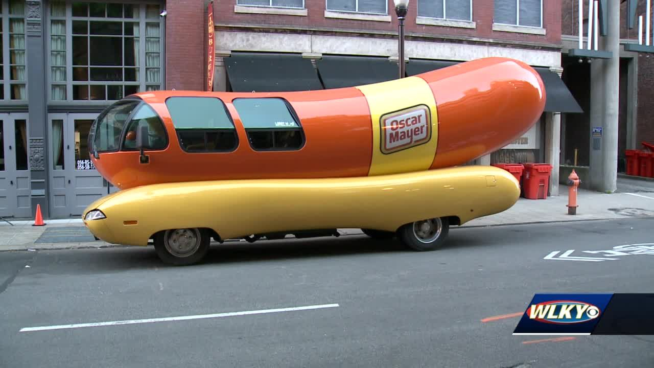 The Oscar-Mayer wiener-mobile is making a stop through Louisville
