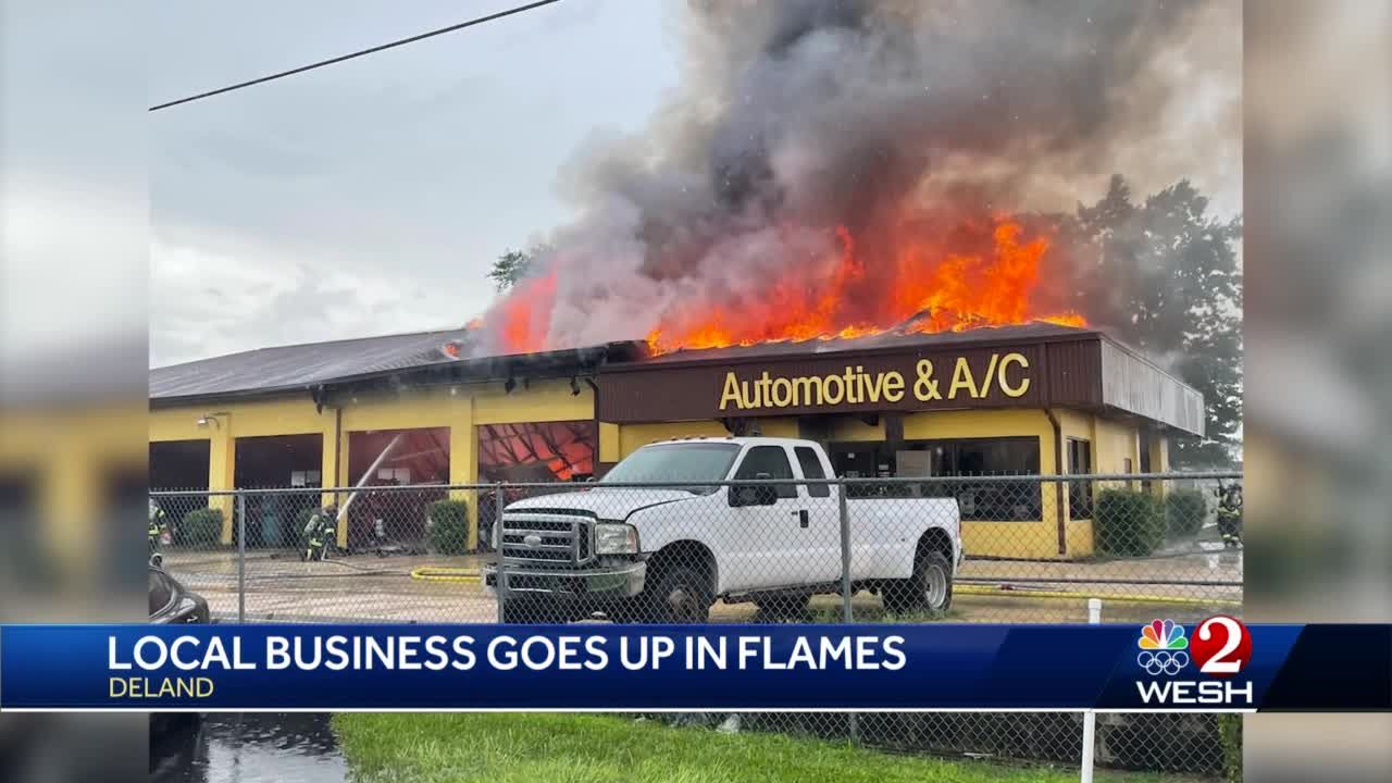 Local business goes up in flames