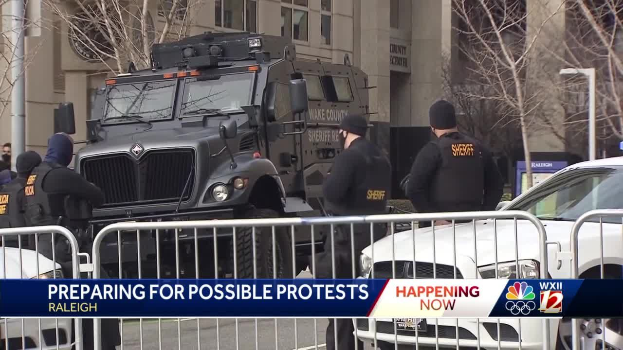Raleigh preparations in place by police, National Guardsmen in case of protests