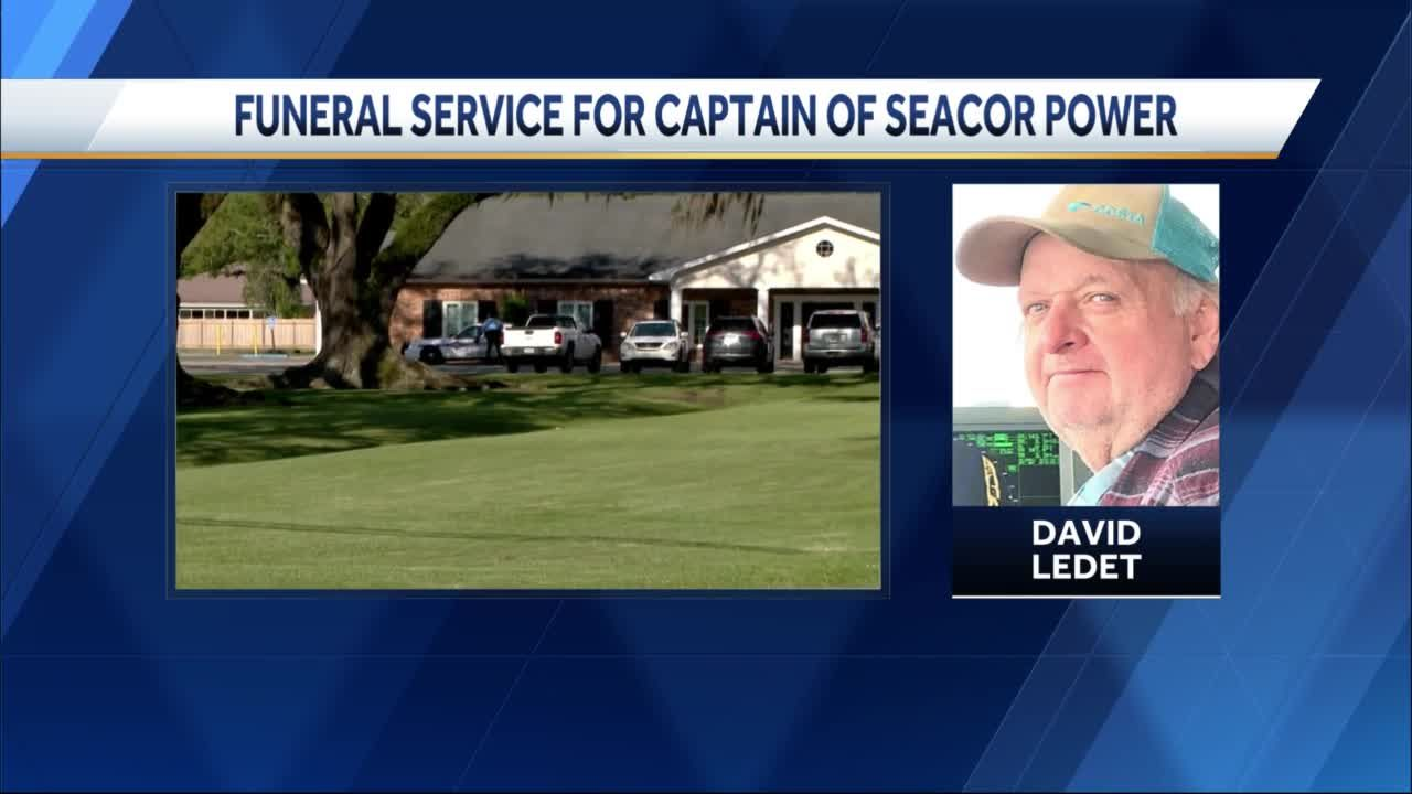 Funeral services underway for captain of capsized Seacor boat