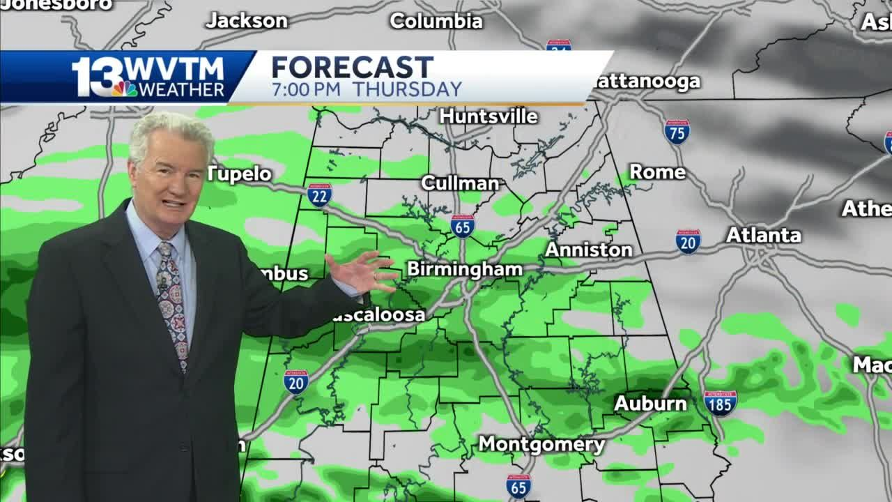 More rain for central Alabama tonight and Friday