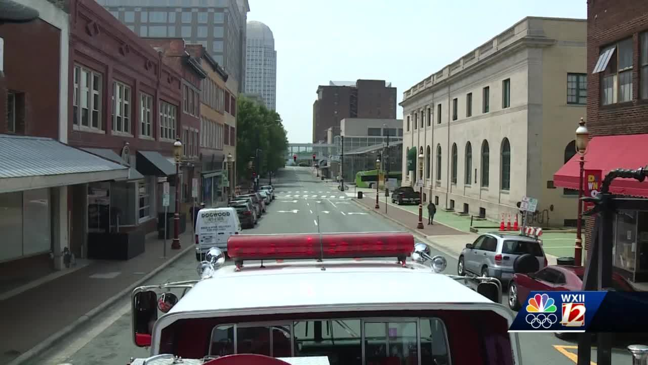 Retired fire truck takes people on tours through downtown Winston-Salem