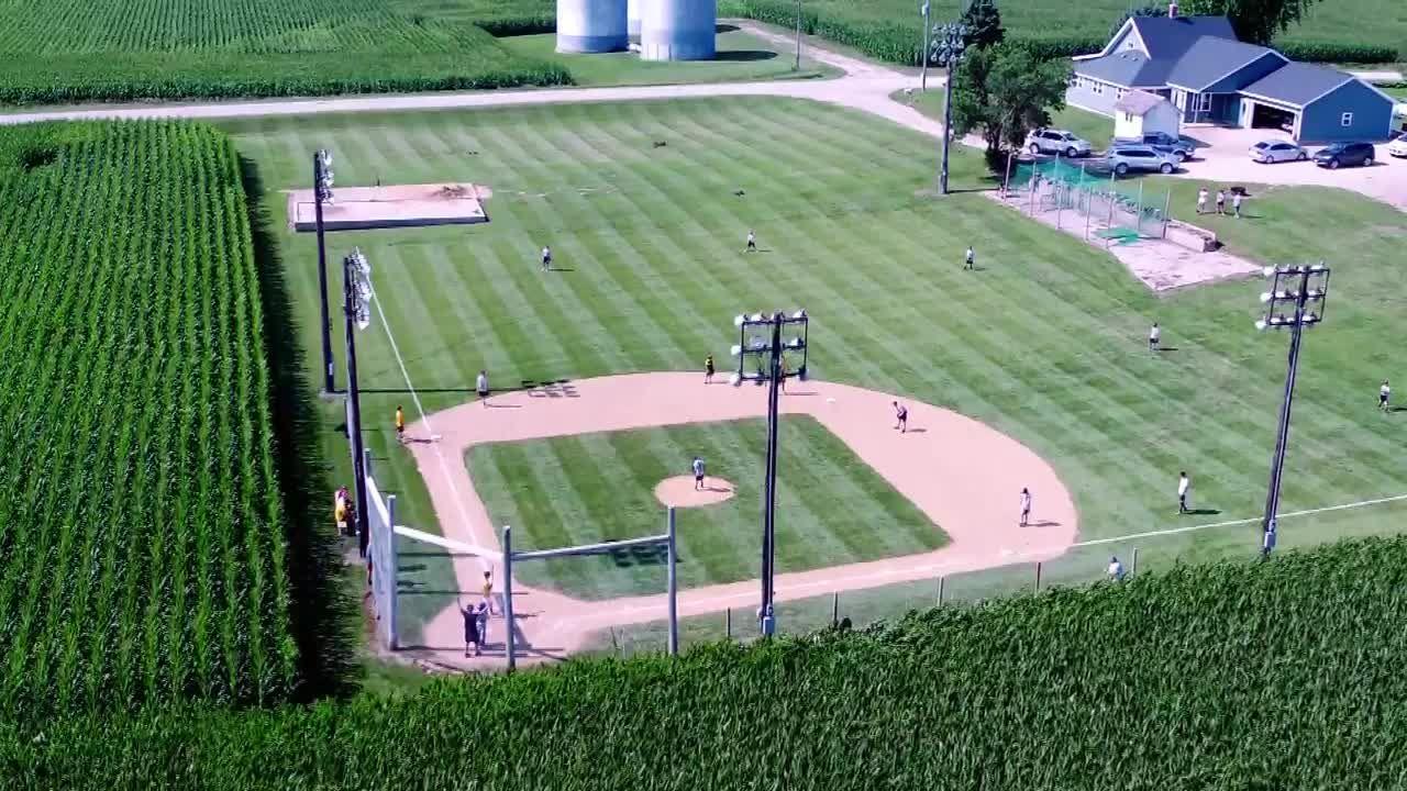 Backyard Baseball Fields iowan builds a 'field of dreams' in his own backyard