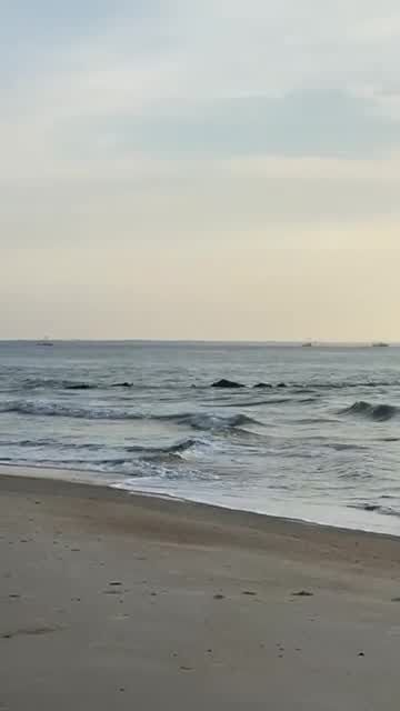 Marco Polo cargo ship passes by Tybee Island