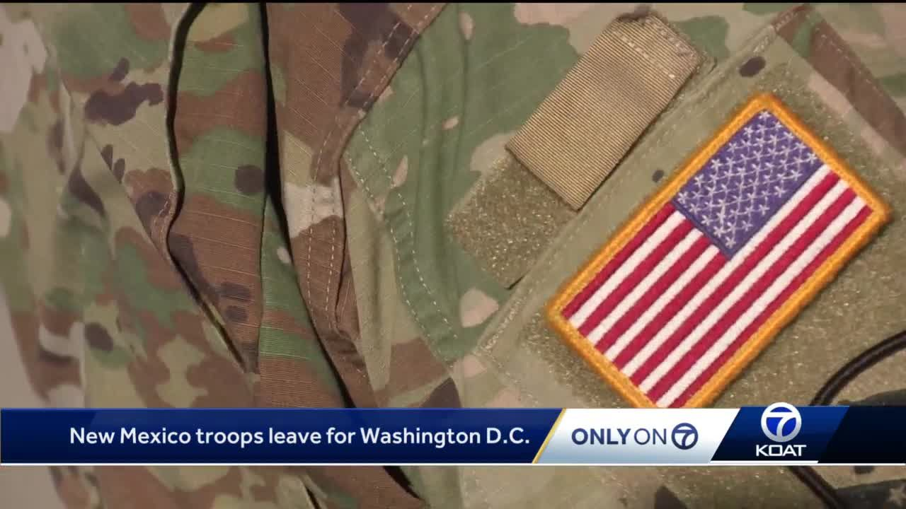 New Mexico National Guard troops fly to Washington D.C. ahead of inauguration