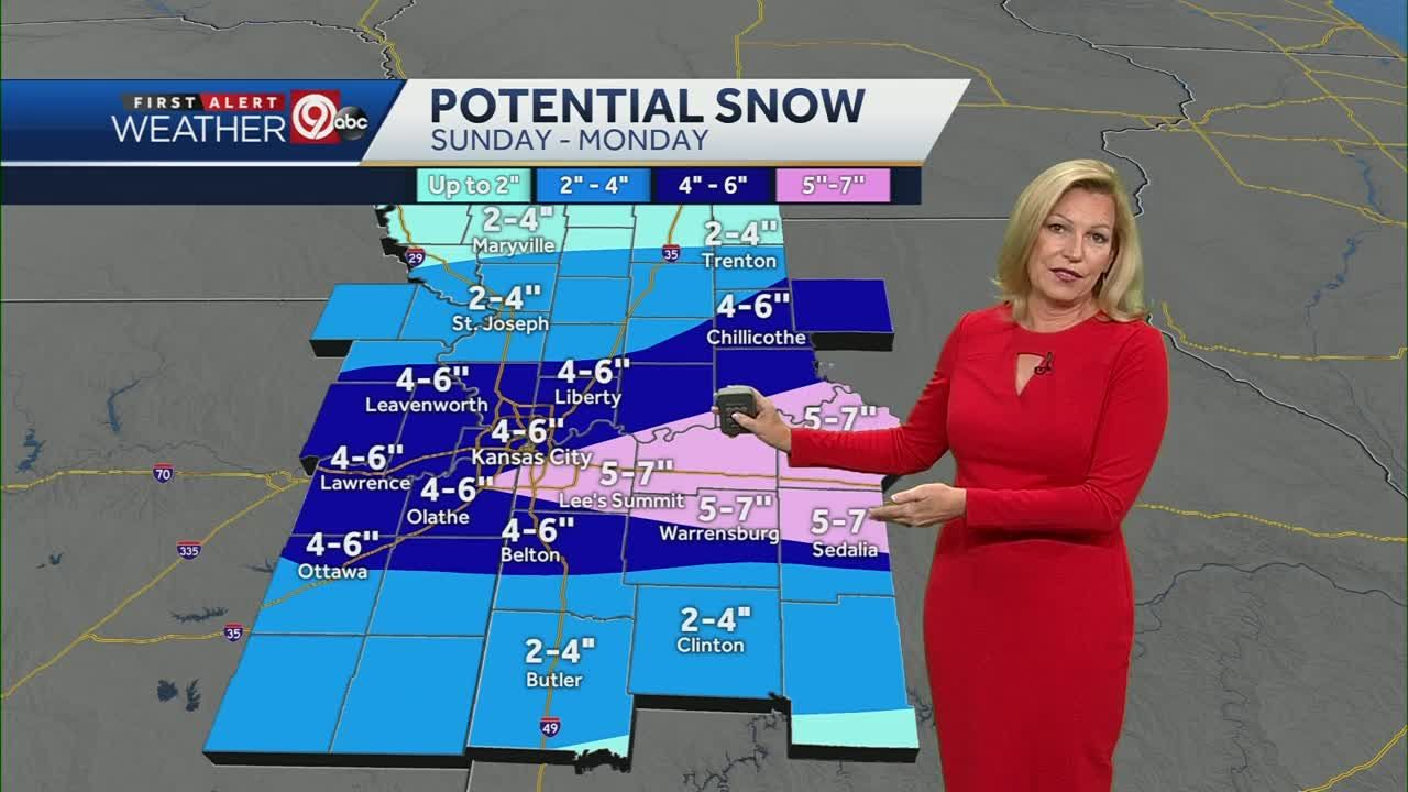Expect Two Rounds Of Accumulating Snow On Sunday Monday