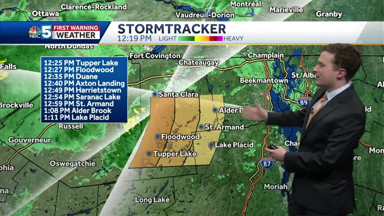 Video: Increasing showers this afternoon (6-18-21)