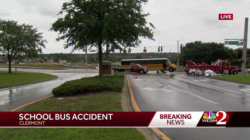 Lake County school bus involved in crash, officials say