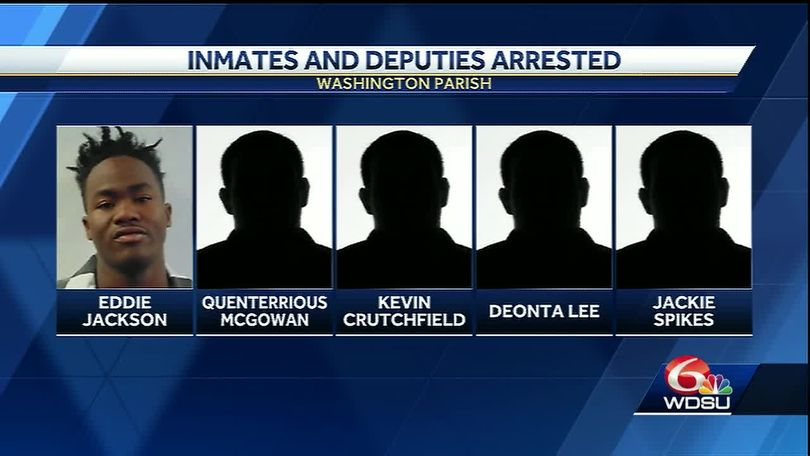 5 former Washington Parish deputies, several inmates