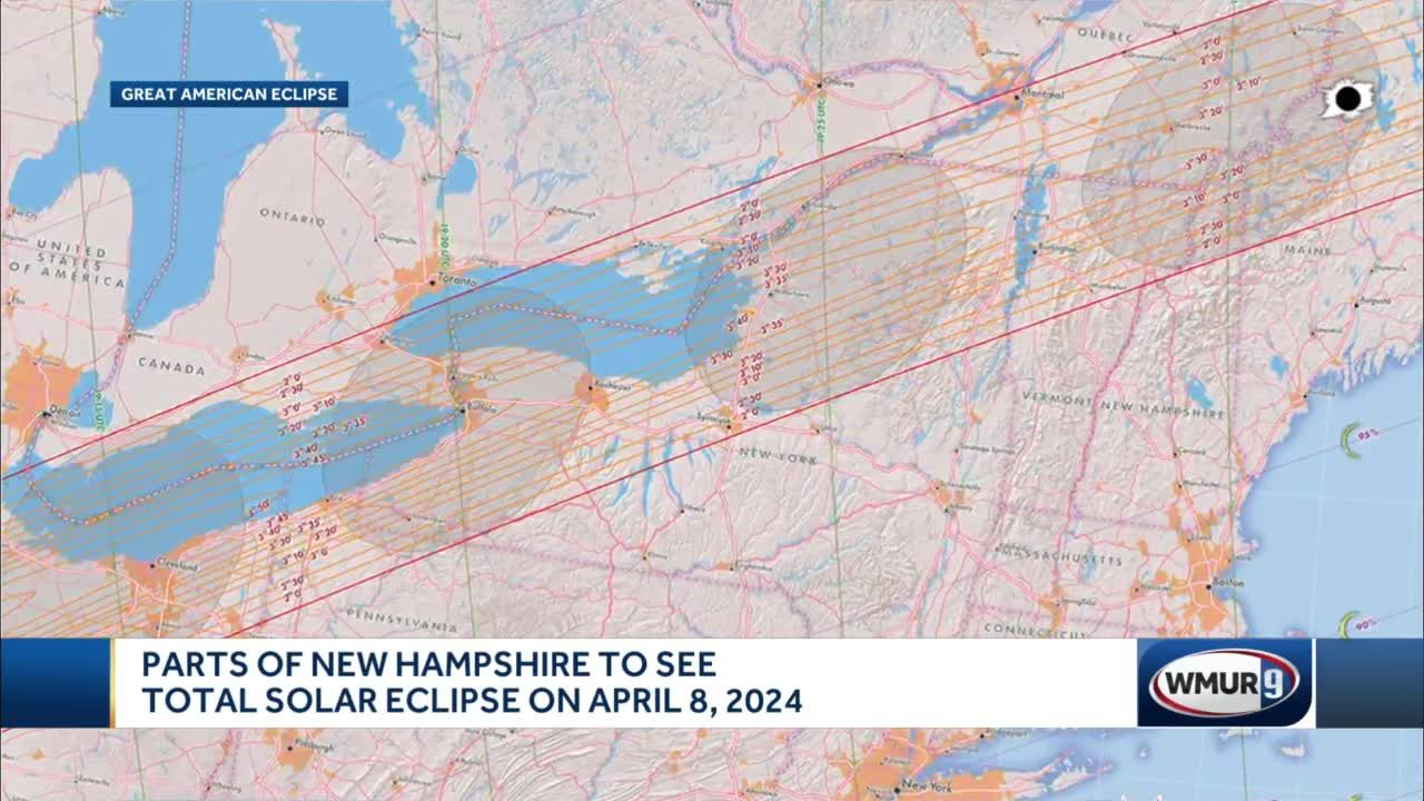 Parts of New Hampshire to see total solar eclipse on April 8, 2024