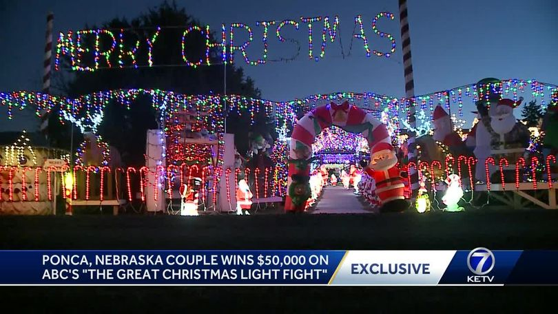 This Christmas light display won a Nebraska family $50,000!