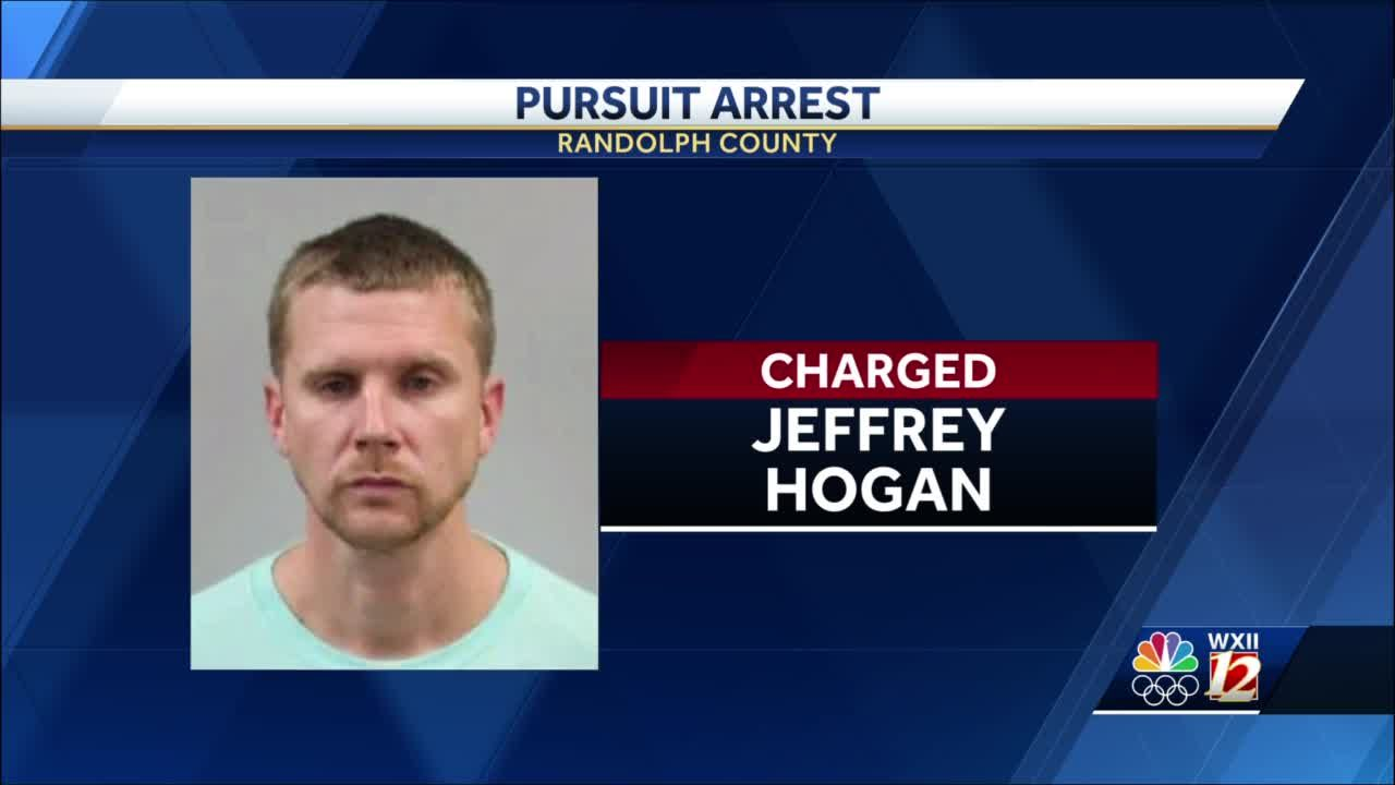 Randolph County man facing more than a dozen charges following pursuit