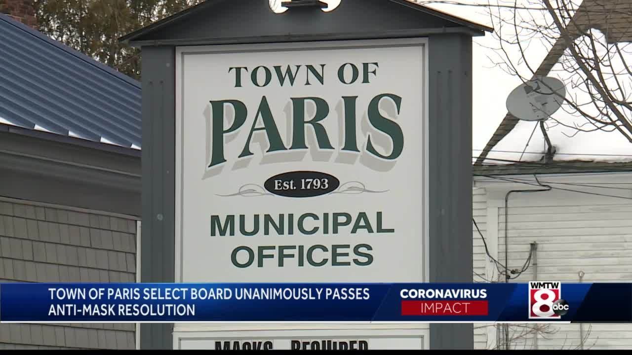 Maine town approves anti-mask resolution