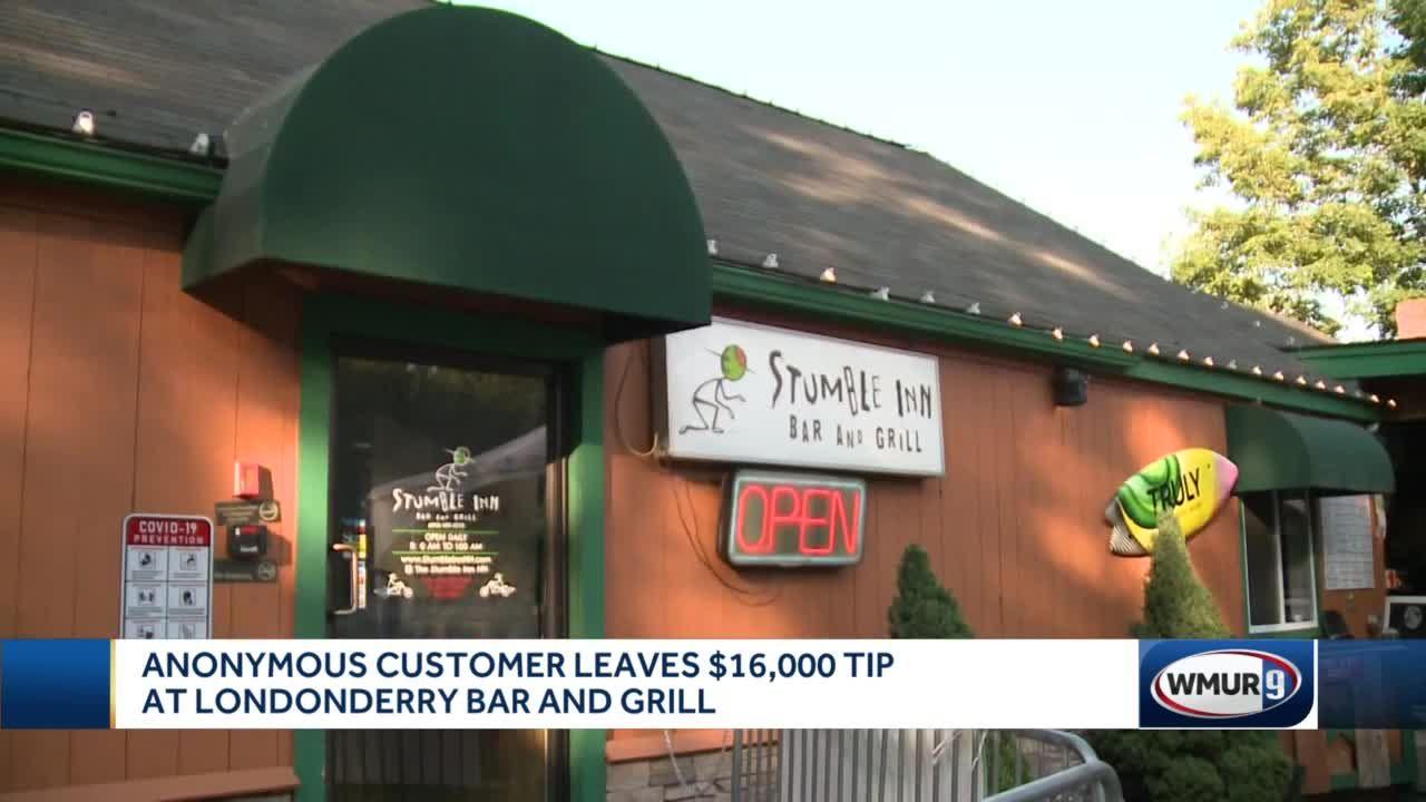 Customer leaves $16,000 tip at Londonderry bar