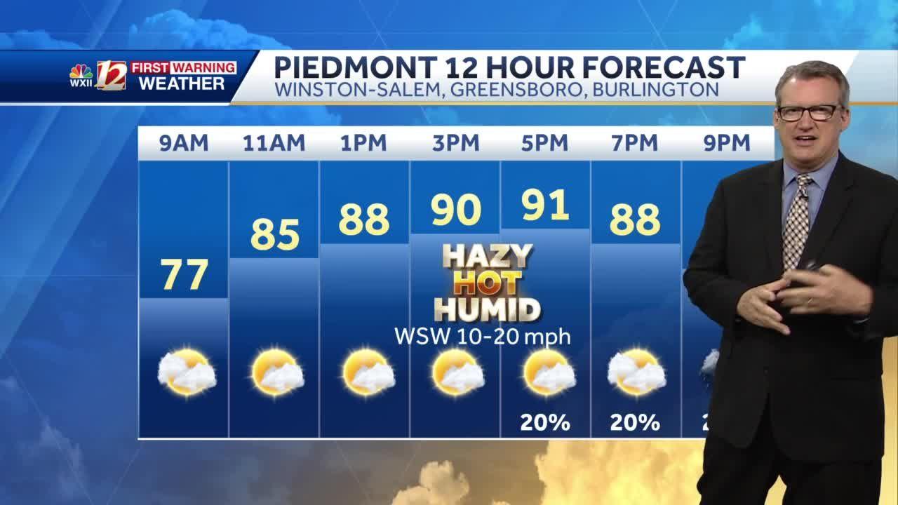 WATCH: Steamy Monday, Stormy Tuesday