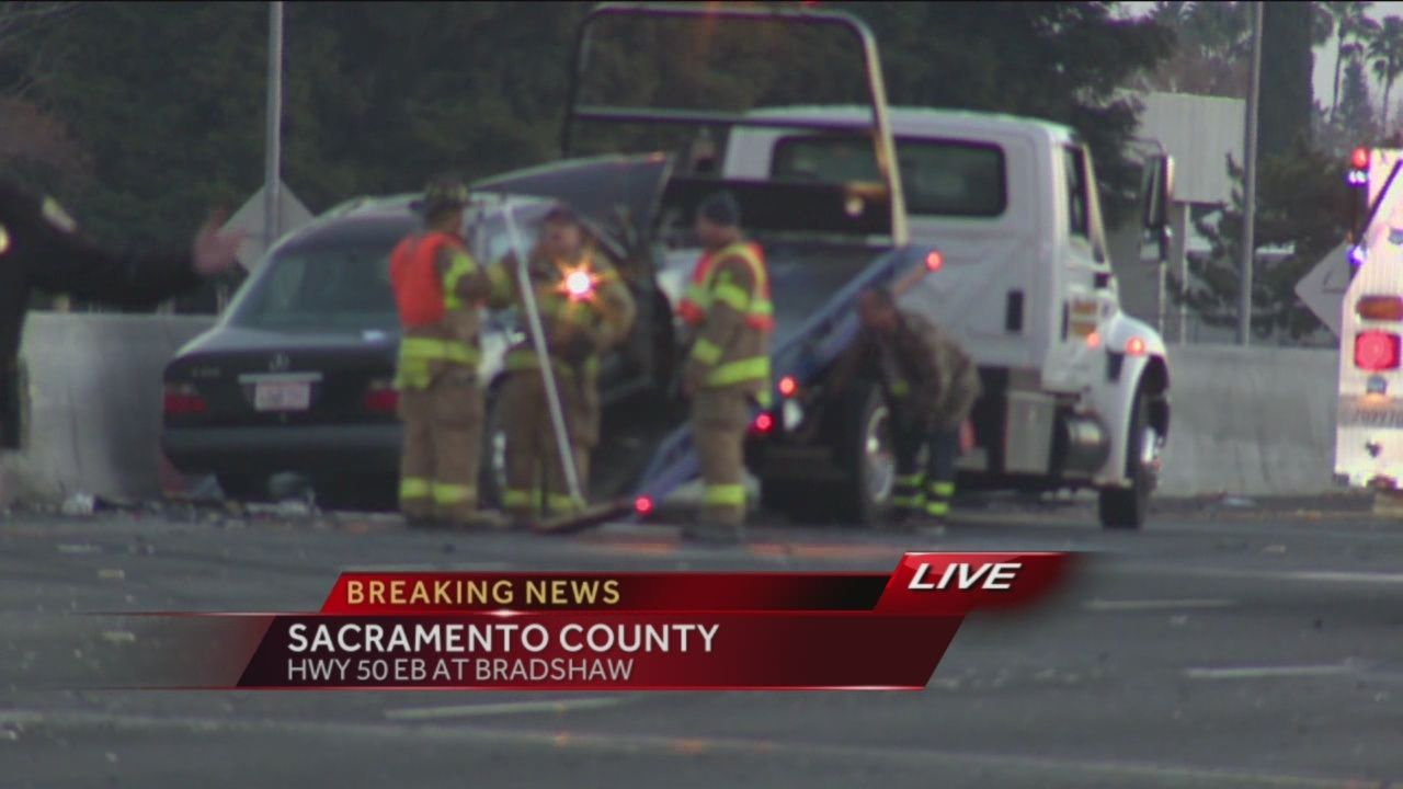 Multi-vehicle accident shuts down Highway 50