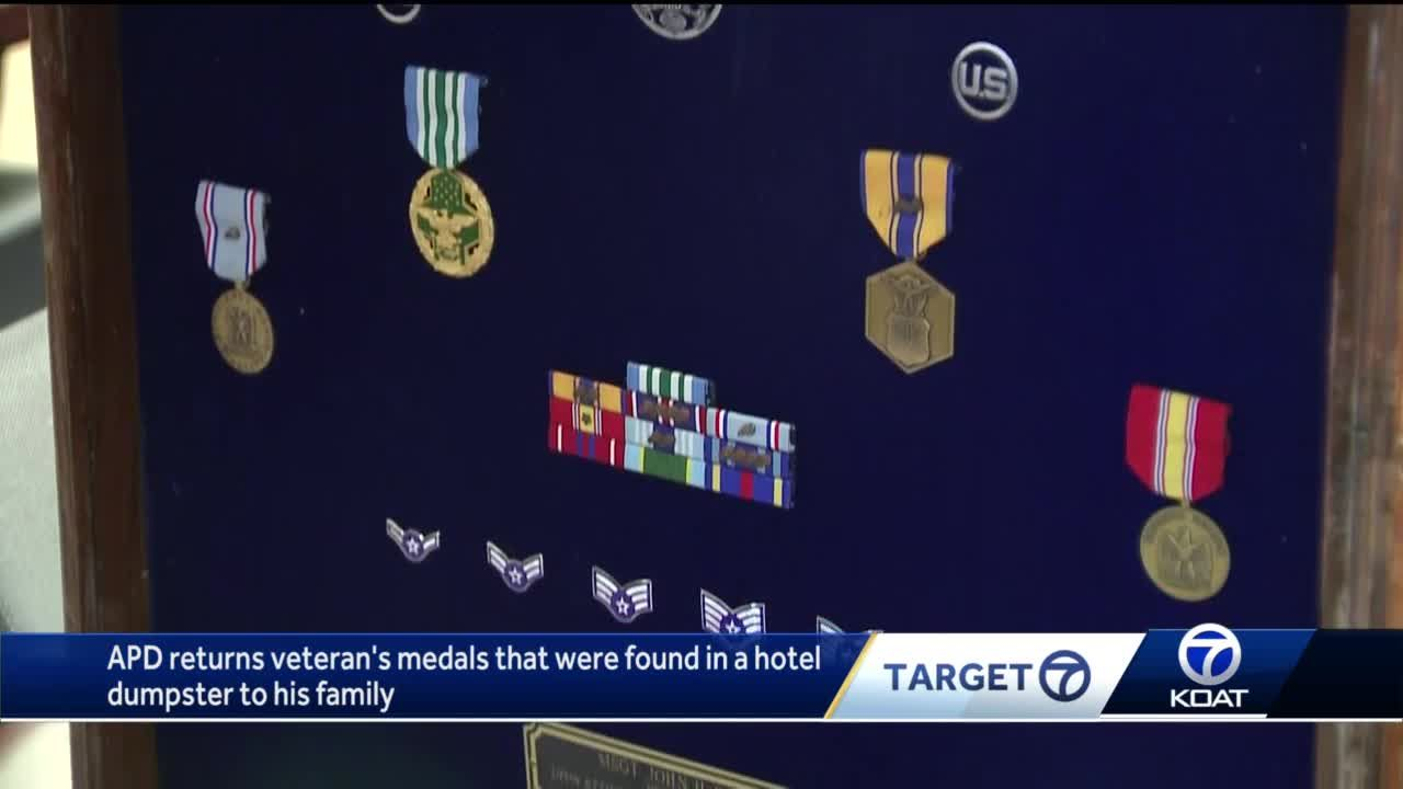 APD returns veteran's medals that were found in a hotel dumpster