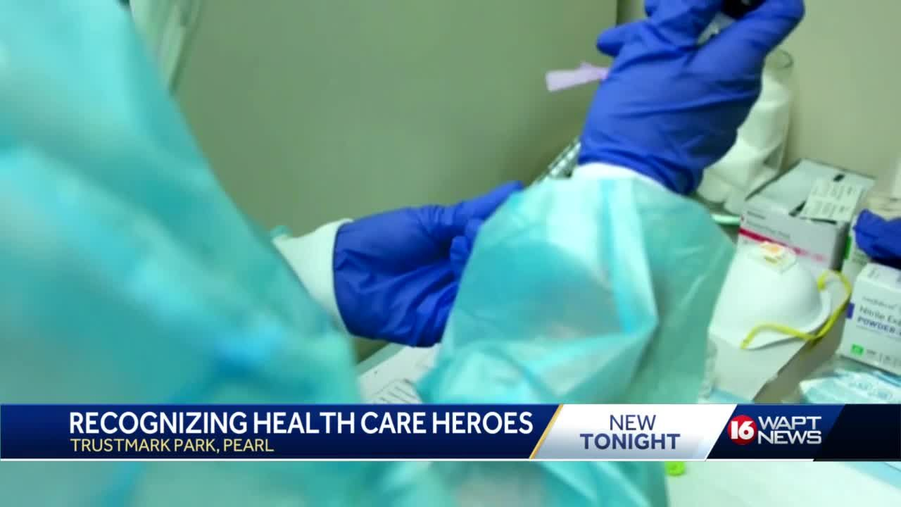 Healthcare workers honored at Trustmark Park