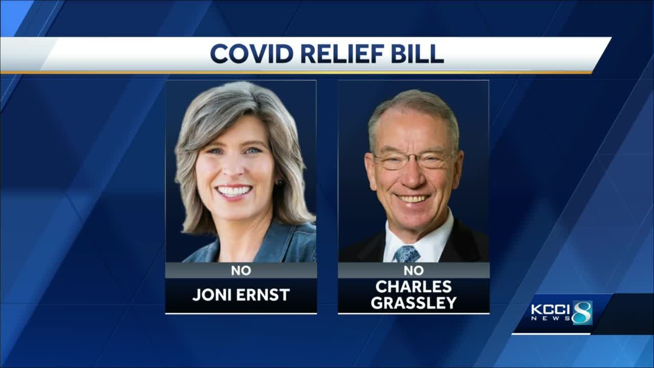 'That's no way to govern': Grassley, Ernst respond to $1.9 trillion relief bill passing