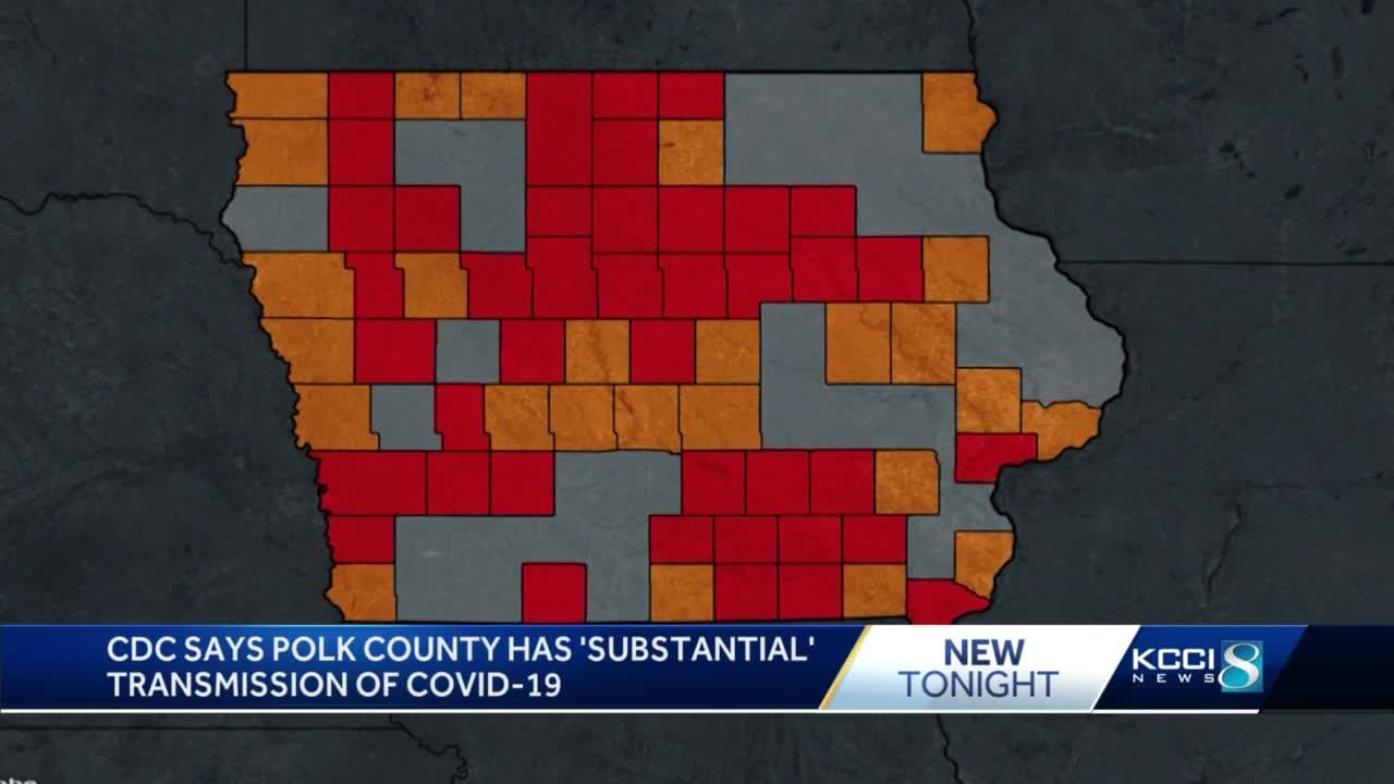 CDC: Most of Iowa is at substantial or high risk of COVID-19 transmission