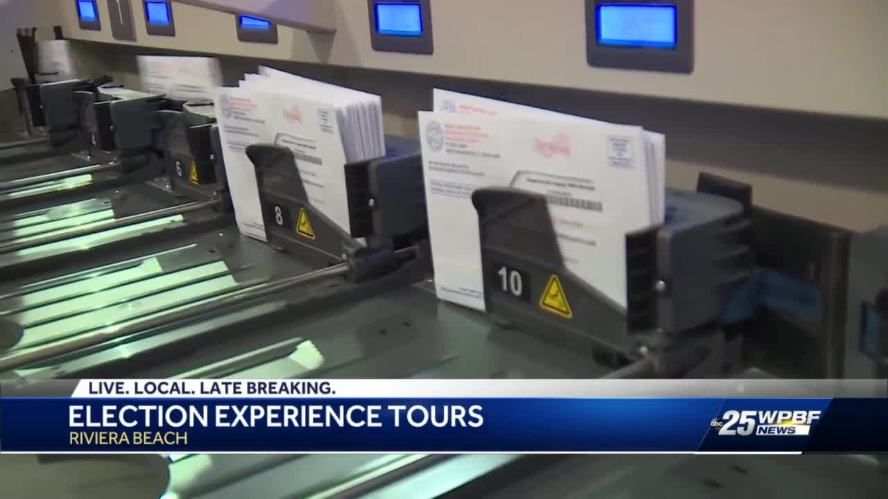Palm Beach County Supervisor of Elections gives tour to show how ballots are counted