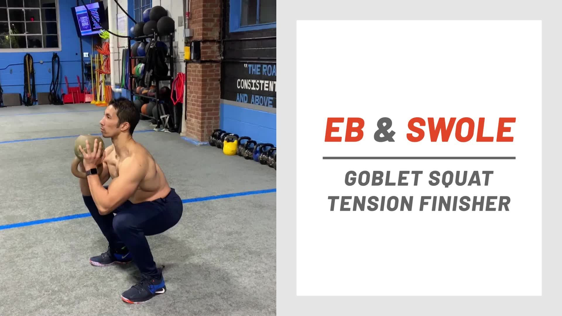 Finish Off Your Leg Day With This Killer Goblet Squat Series