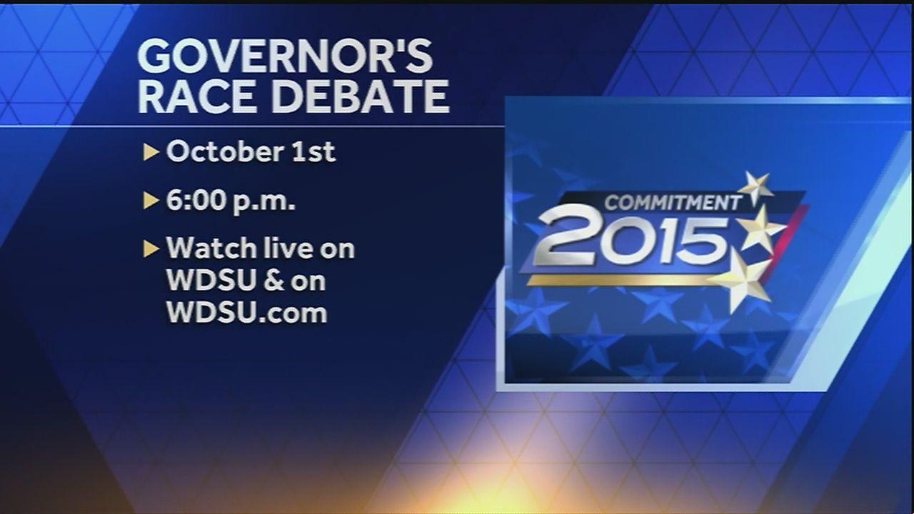 First live televised gubernatorial debate to air on WDSU-TV