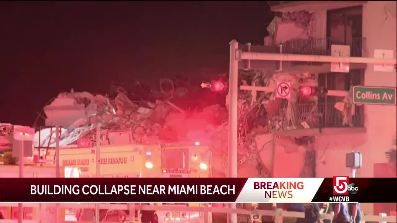Partial building collapse near Miami causes massive emergency response