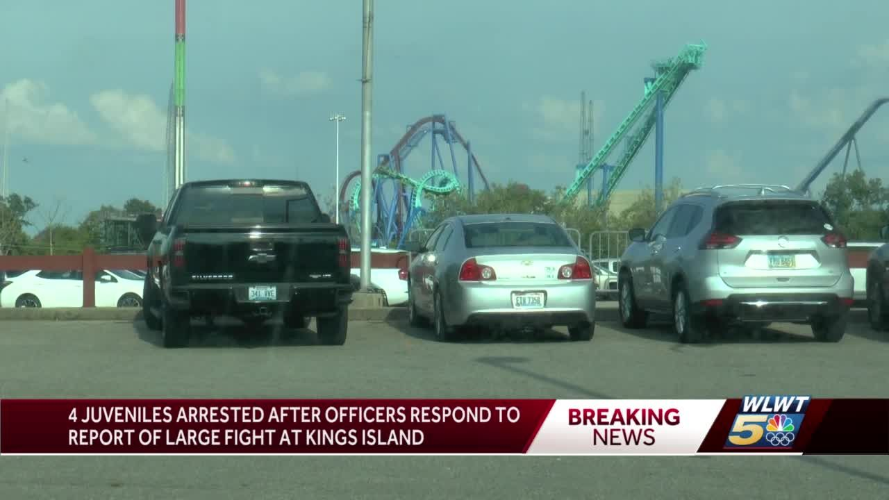 Police: 4 juveniles arrested after officers respond to report of large fight at Kings Island