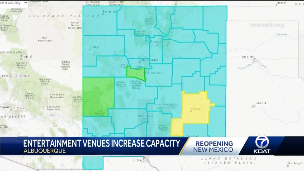 Large entertainment venues in turquoise counties invite back more visitors