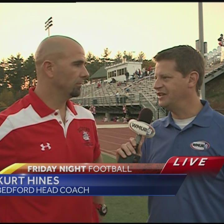 Bedford coach Kurt Hines live on News9