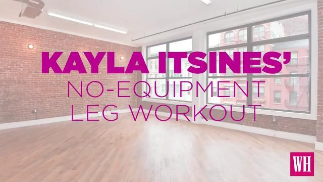 The Kayla Itsines Leg Workout You Can Literally Do Anywhere