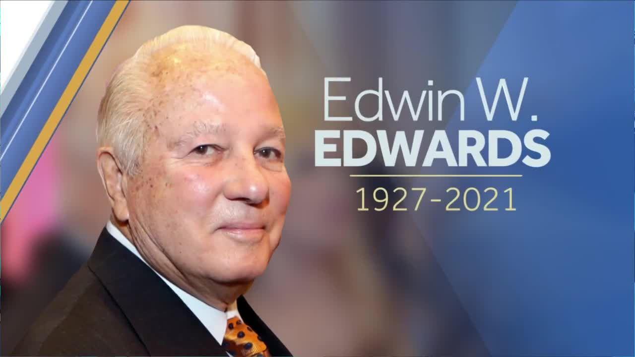 Former Gov. Edwin Edwards processional Sunday