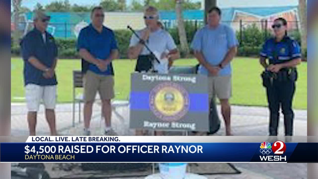 $4,500 raised for Officer Raynor