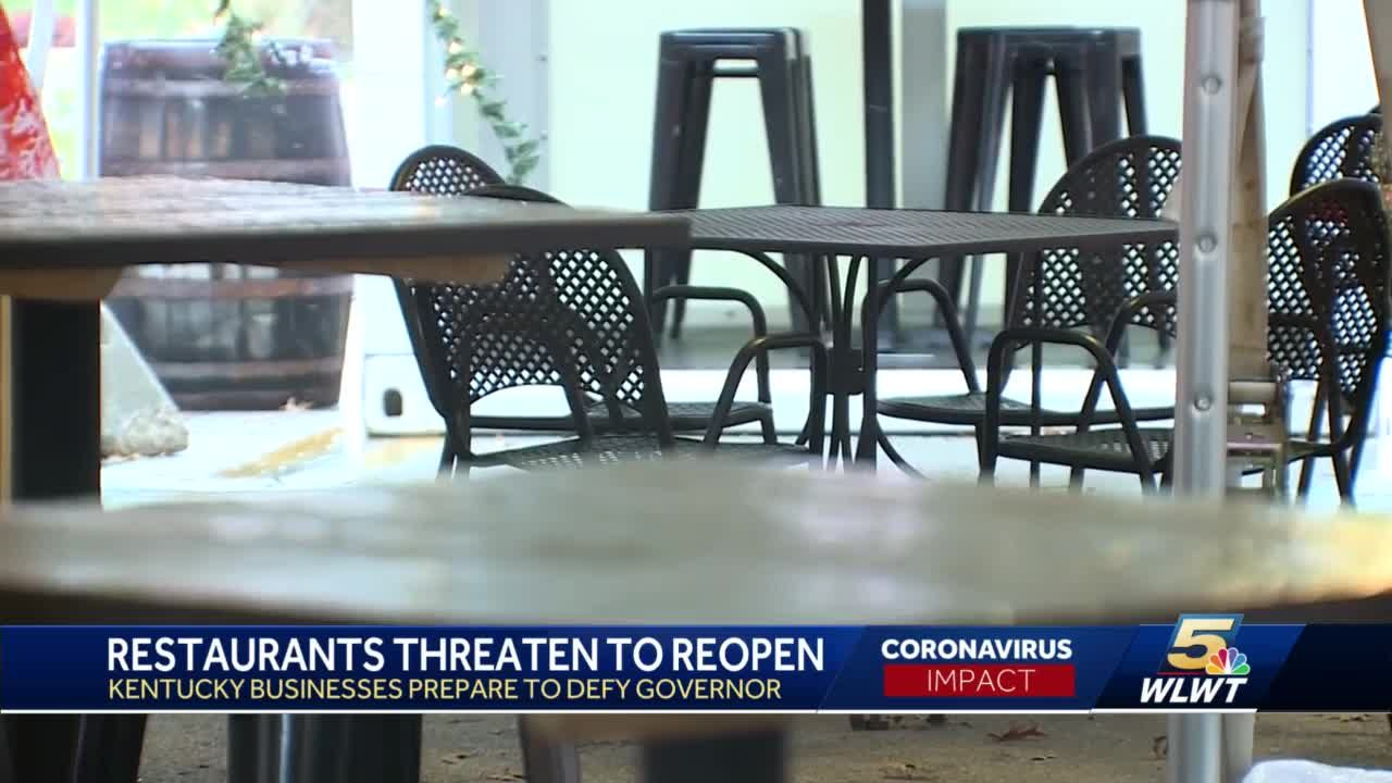 Some Kentucky restaurant owners vow to reopen indoor dining mid-December, with or without consent