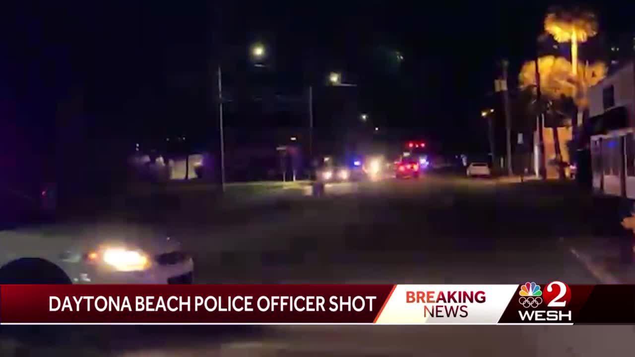 Daytona Beach officer shot in head, officials say