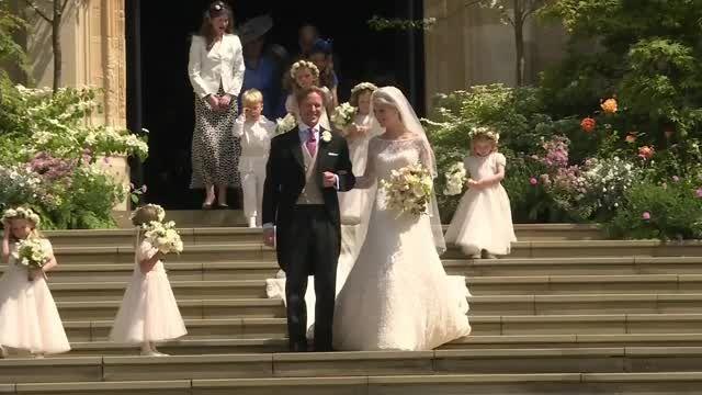 Lady Gabriella Windsor's wedding dress goes on display