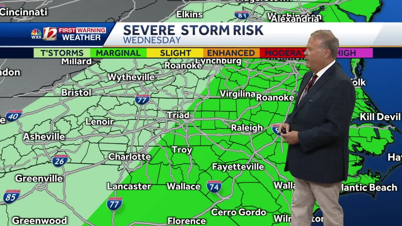 WATCH: Chance for severe thunderstorms in the afternoon heading into dry weekend