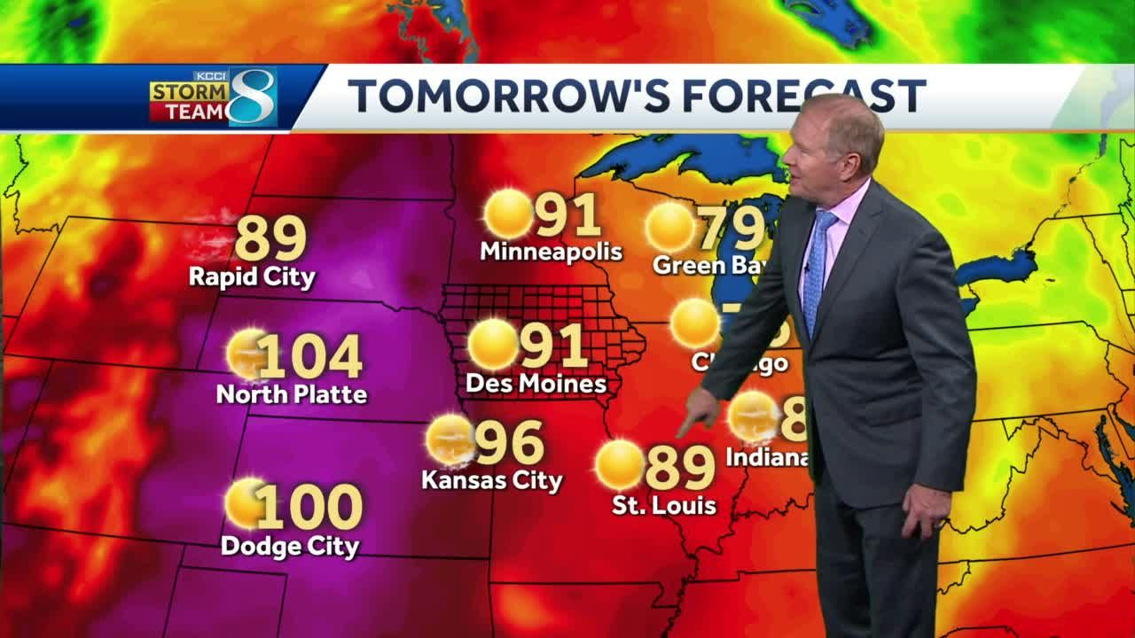 Wednesday heats up with mostly sunny skies