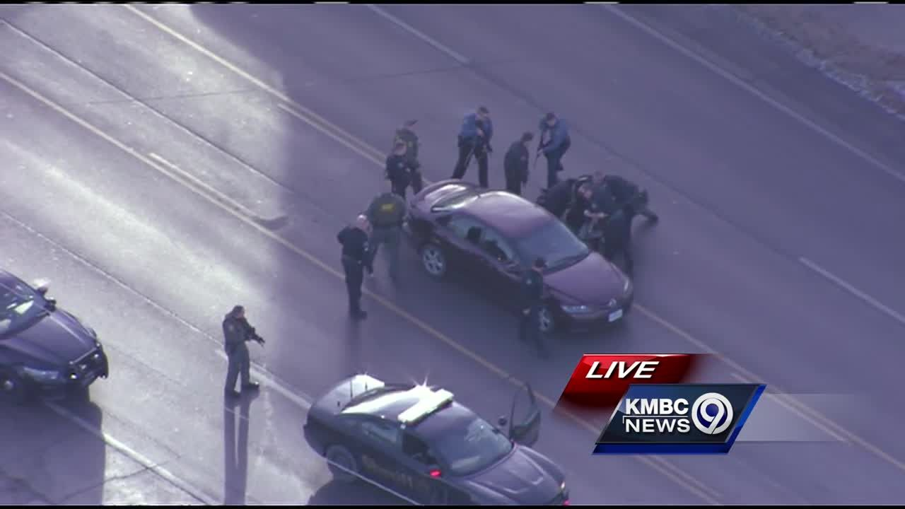 WATCH: Police chase officer-involved shooting suspect into Independence