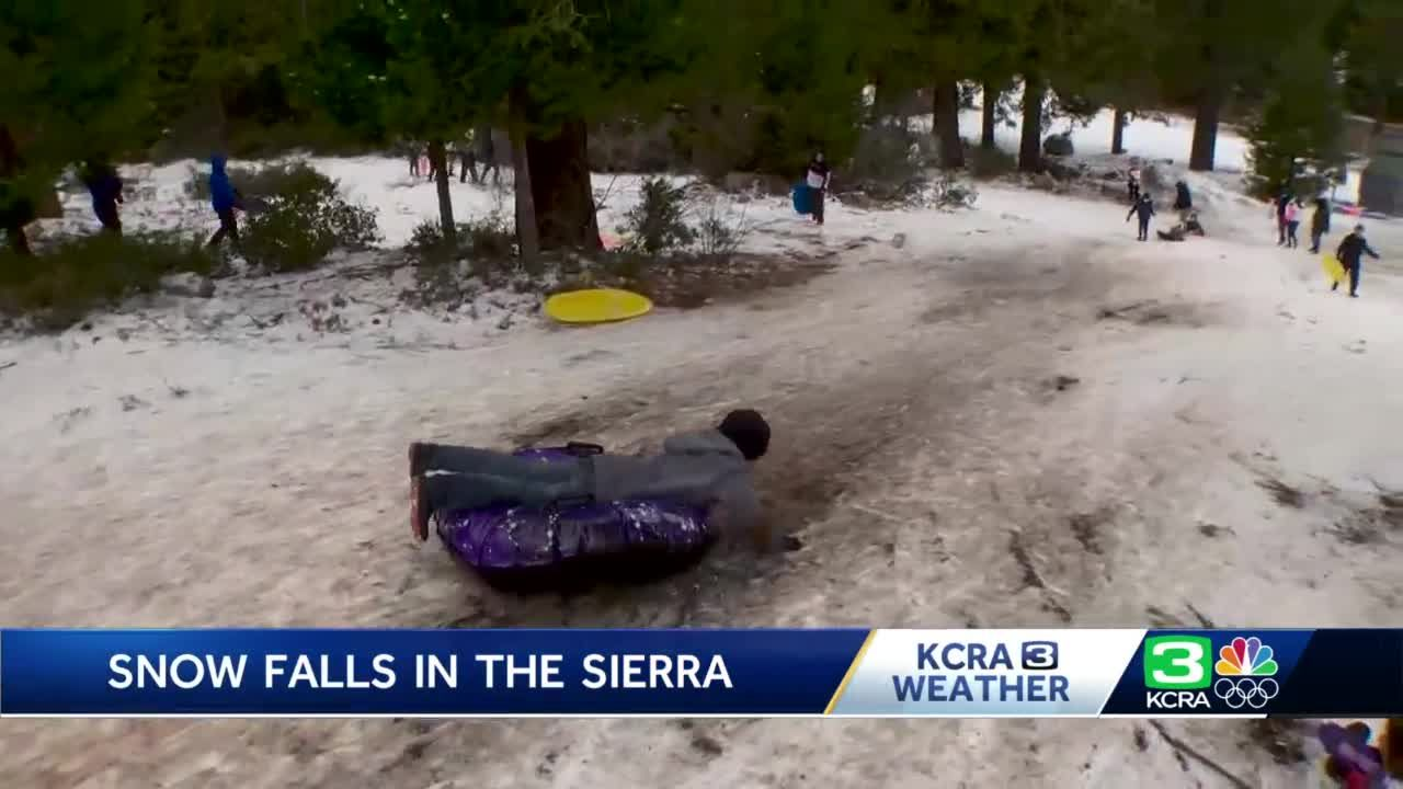 Sierra winter weather attracts visitors in advance of major snowstorm