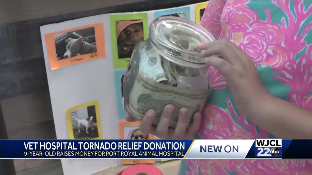 To help with repairs, 9-year-old donates over $1,100 to Port Royal Veterinary Hospital