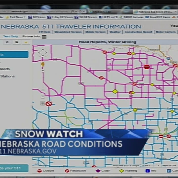 Sunday morning driving conditions a problem for many