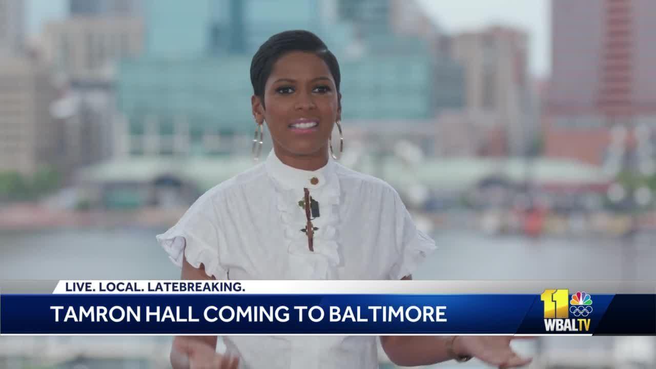 Tamron Hall visits Baltimore to film upcoming episode of show