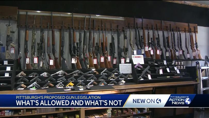 Pittsburgh's proposed gun legislation: What's allowed and