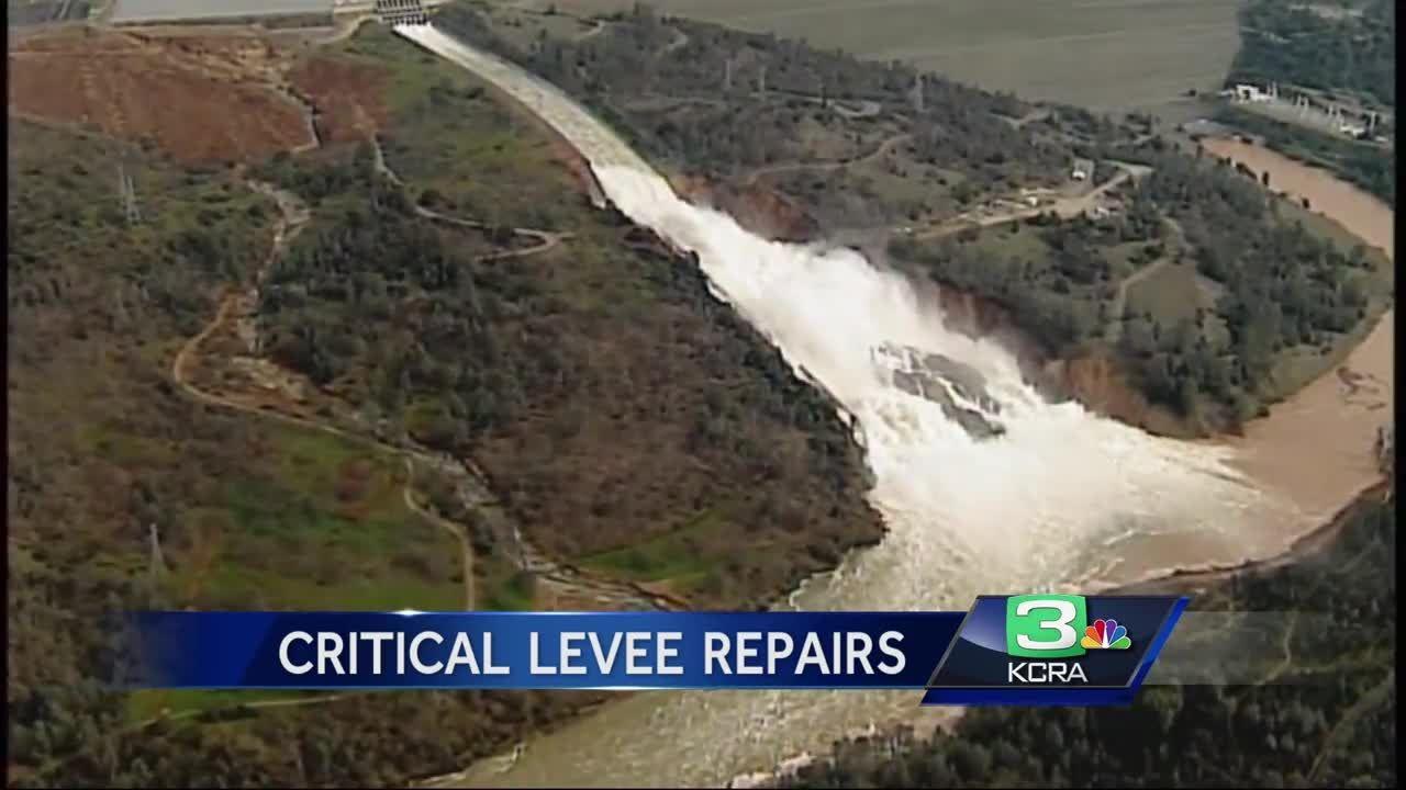 Crews start emergency repairs downstream of Oroville Dam